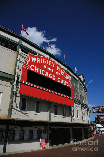 Wall Art - Photograph - Wrigley Field by Timothy Johnson