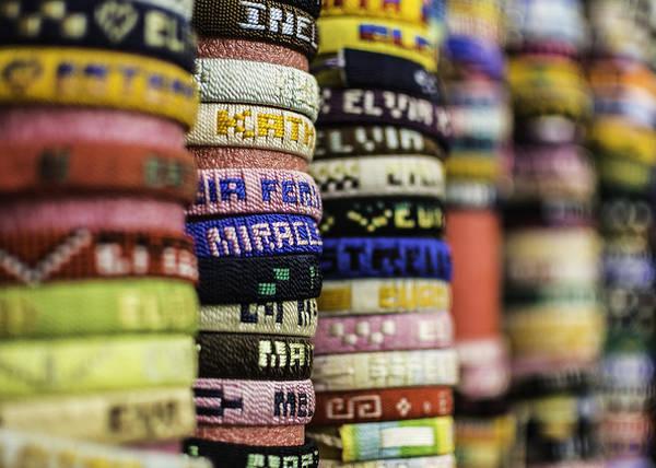 Memphis Design Wall Art - Photograph - Wrist Band Rainbow by Jon Woodhams