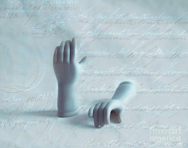 Cursive Photograph - Write Hands by Sonja Quintero