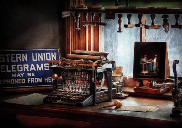 Photograph - Writer - Typewriter - The Aspiring Writer by Mike Savad