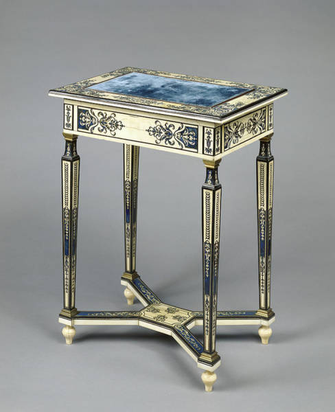 Drawers Painting - Writing Table Unknown Paris, France, Europe About 1670 - by Litz Collection