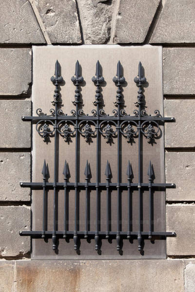 Grating Wall Art - Photograph - Wrought Iron Window Grille by Artur Bogacki