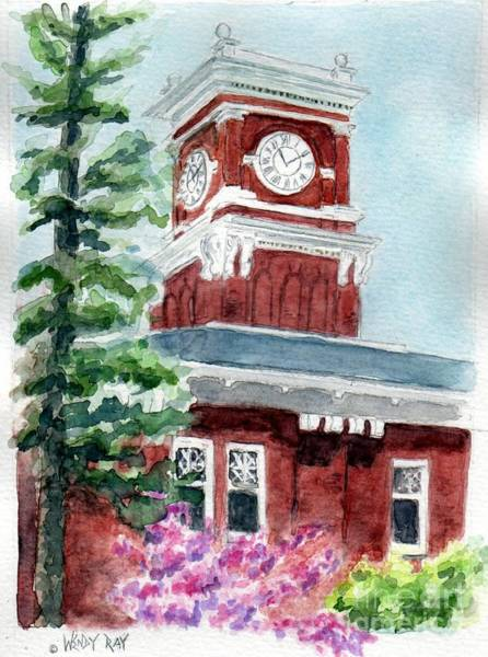 Painting - Wsu Clocktower by Wendy Ray