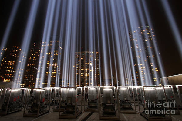 Photograph - Wtc Tribute In Lights by Steven Spak