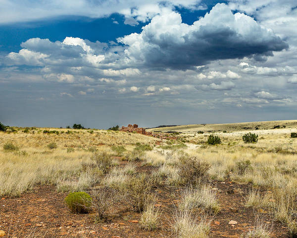 Photograph - Wupatki National Monument Box Canyon Area Ruins by Chris Bordeleau