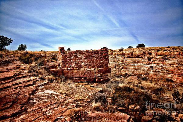 Wupatki Photograph - Wupatki National Monument-ruins V11 by Douglas Barnard