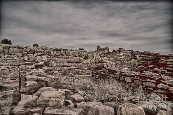 Wupatki Photograph - Wupatki National Monument-ruins V12 by Douglas Barnard
