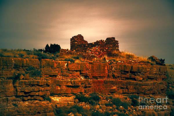 Wupatki Photograph - Wupatki National Monument-ruins V13 by Douglas Barnard