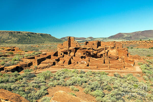 Photograph - Wupatki Pueblo In Wupatki National Monument by Fred Stearns