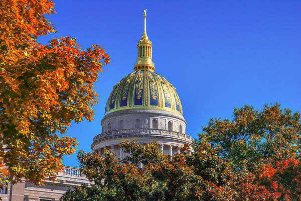 Photograph - Wv Golden Dome by Mary Almond