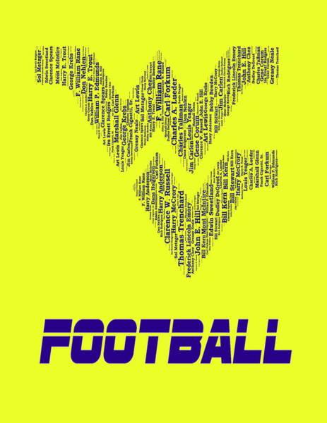Mountaineer Digital Art - Wvu Football Coaches Mosaic by Paul Van Scott