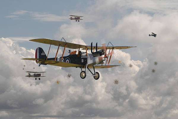World War 1 Digital Art - Ww1 Re8 Aircraft by Pat Speirs
