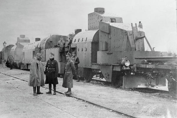 Galicia Photograph - Wwi Armored Train, C1914 by Granger