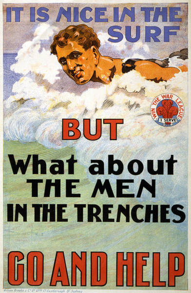 Painting - Wwi Australian Poster by Granger