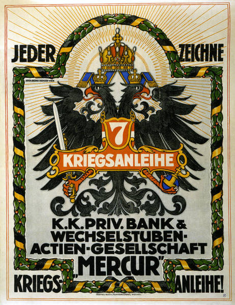 Wall Art - Painting - Wwi Austrian Poster, 1917 by Granger