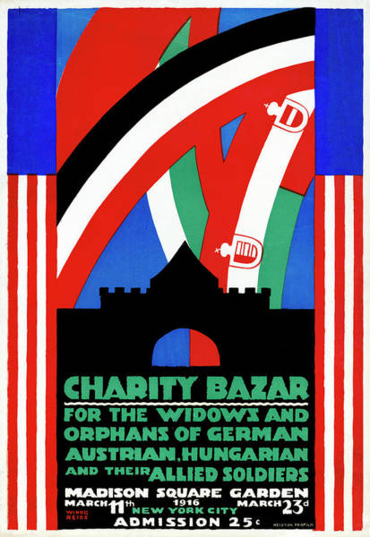 Wall Art - Painting - Wwi Charity Bazaar, 1916 by Granger