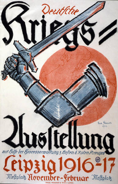 Wall Art - Painting - Wwi German Poster, 1916 by Granger