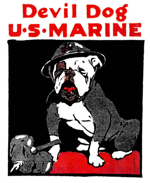 Marine Corps Painting - Wwi Marine Corps Devil Dog by Historic Image