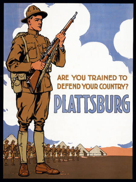 Recruitment Painting - Wwi Military Training Camp by Granger