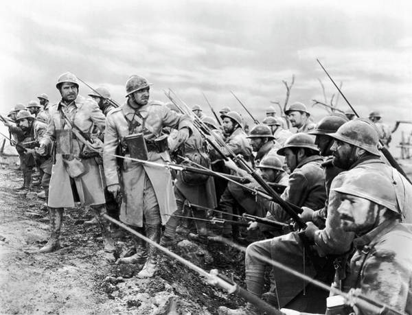 Photograph - Wwi Movie Scene by Underwood Archives
