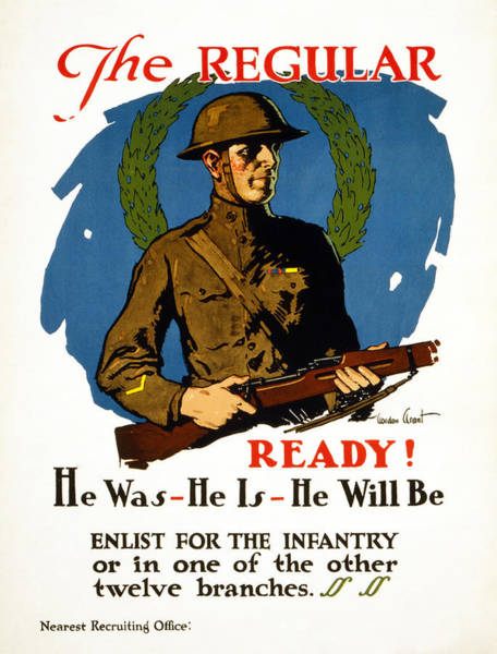 Recruitment Painting - Wwi Recruitment, C1917 by Granger