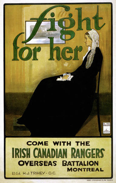 Recruitment Painting - Wwi Recruitment Poster, 1915 by Granger