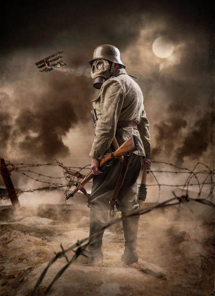 Rifle Photograph - Wwi Soldier by Milpictures By Tom Weber
