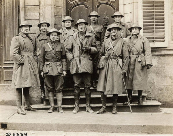 Wall Art - Photograph - Wwi War Correspondents by Granger
