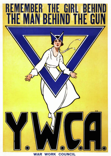 Painting - Wwi Ywca Poster, 1917 by Granger