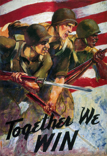 Photograph - Wwii: Biracial Unity Poster by Granger