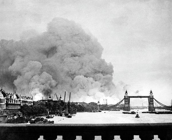 Wall Art - Photograph - Wwii Docklands Fire by Us National Archives And Records Administration/science Photo Library