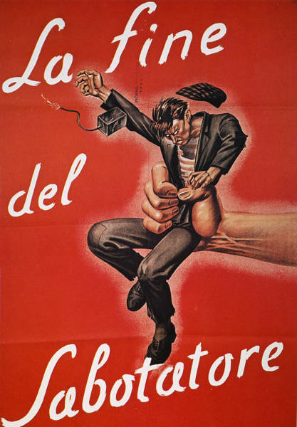 Photograph - Wwii: Italian Poster, 1944 by Granger