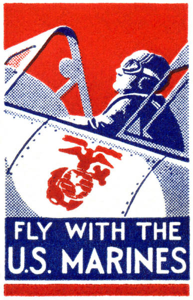 Patriotism Painting - Wwii Marine Corps Aviation by Historic Image