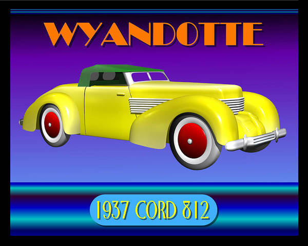 Wall Art - Digital Art - Wyandotte 1937 Cord 812 by Stuart Swartz