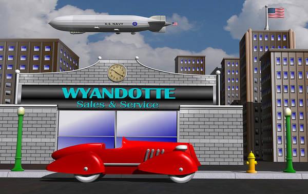 Wall Art - Digital Art - Wyandotte Racer by Stuart Swartz