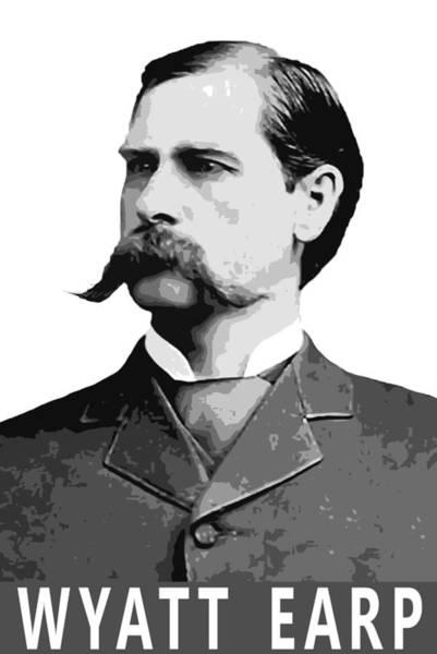 Ok Digital Art - Wyatt Earp Legend Of The Old West by Daniel Hagerman