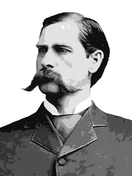 Ok Digital Art - Wyatt Earp Old West Legend by Daniel Hagerman