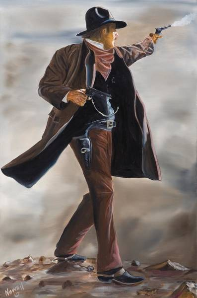 Wall Art - Painting - Wyatt Earp Tombstone by Peter Nowell