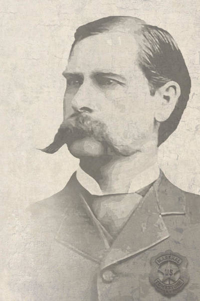 Ok Digital Art - Wyatt Earp U. S. Marshal by Daniel Hagerman