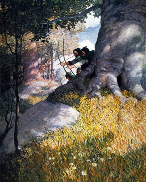 Painting - Wyeth Robin Hood, 1917 by Granger