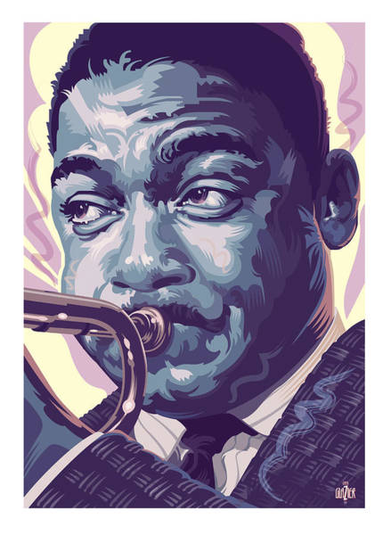 Warm Digital Art - Wynton Marsalis Portrait 2 by Garth Glazier