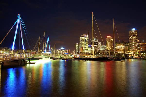 Auckland Photograph - Wynyard Crossing Bridge And Cbd by David Wall