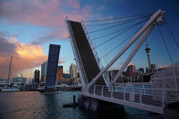Auckland Photograph - Wynyard Crossing Bridge Between Viaduct by David Wall
