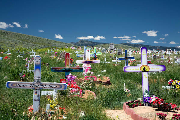Indian Burial Ground Photograph - Wyoming - American Indians by Carol Barrington