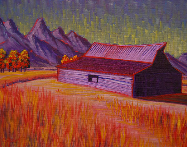 Painting - Wyoming Barn In Red by Cheryl Fecht