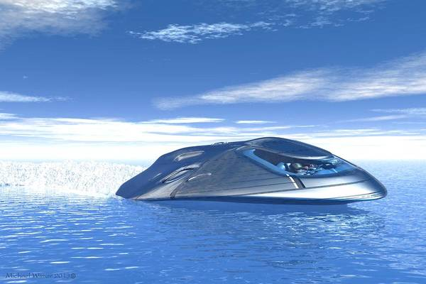 Speed Boat Digital Art - X-17 Viper by Michael Wimer