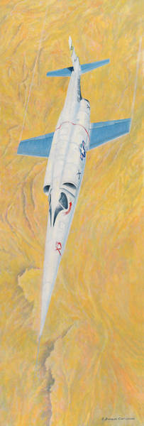 Painting - X-3 Stiletto by Douglas Castleman