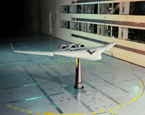 X Wing Photograph - X-48b Blended Wing Body Aircraft Model by Nasa/science Photo Library