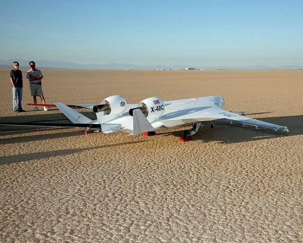 X Wing Photograph - X-48c Blended Wing Body Aircraft by Nasa/carla Thomas