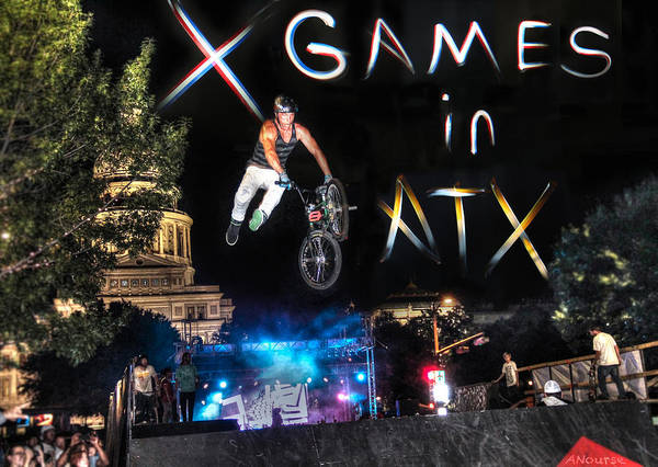 Wall Art - Photograph - X Games In Atx by Andrew Nourse